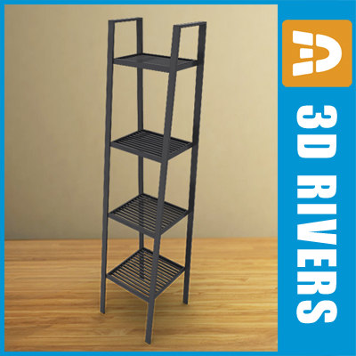3ds metallic shelf unit