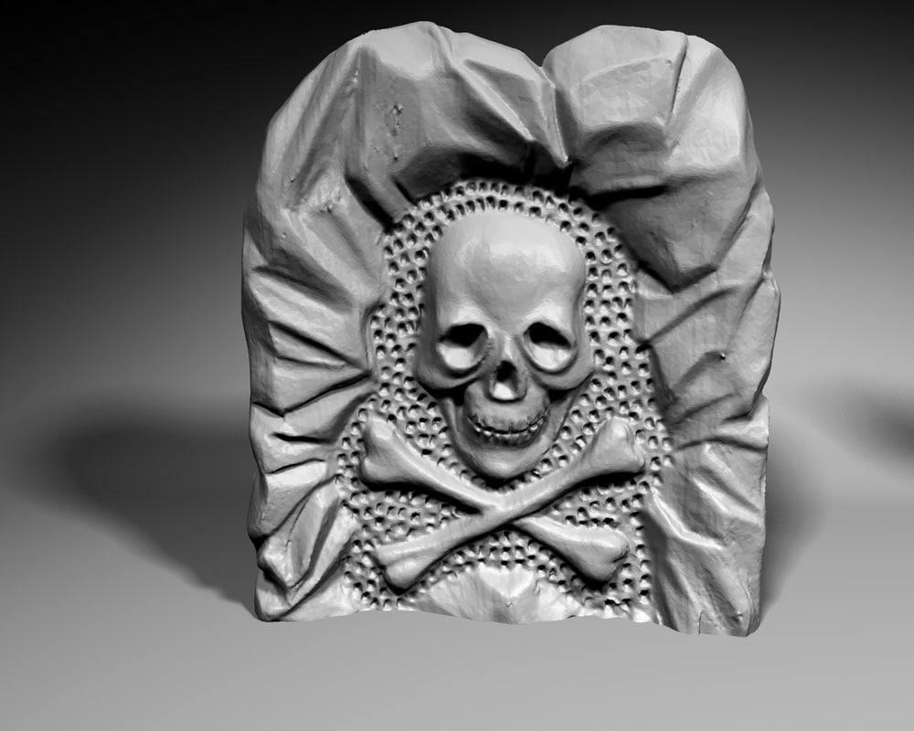 3ds max skull stone