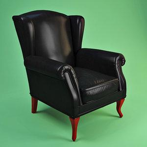 zanaboni armchair 3d model
