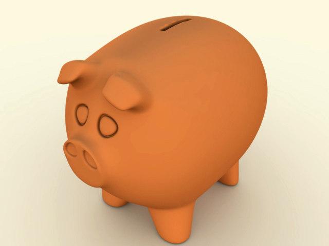 3d model pig piggy piggybank