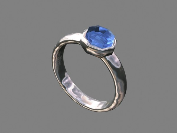 ring gemstone 3d 3ds