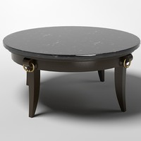 round coffee table ralph lauren stone top