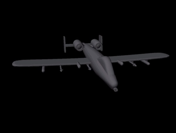 free a-10 thunderbolt 3d model