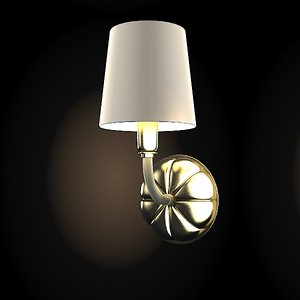 3d model wall lamp scone