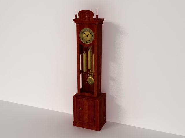 floor-clock 3d model