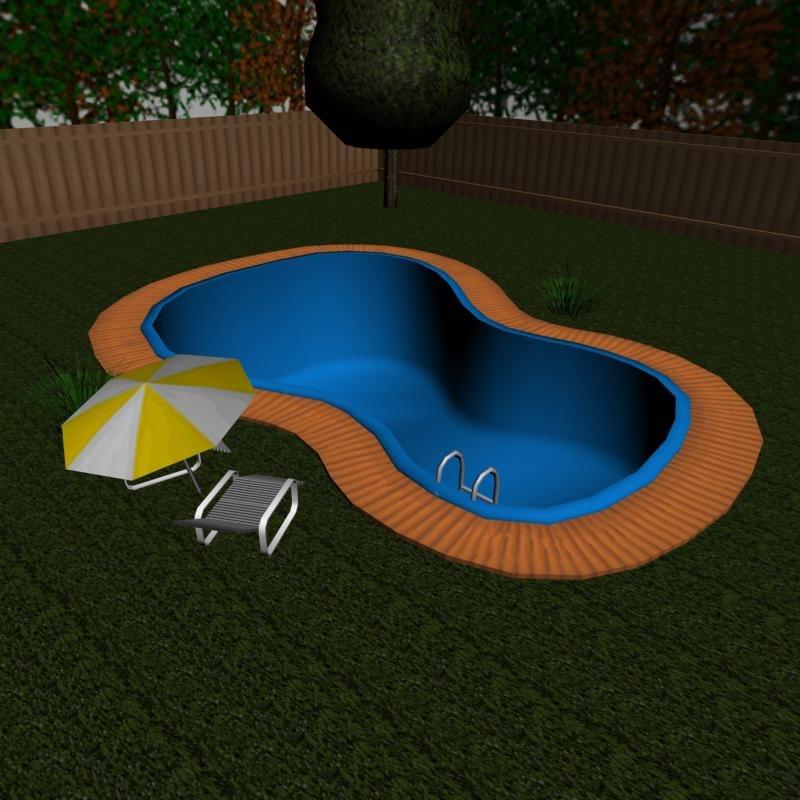 pool enviroment 3d model