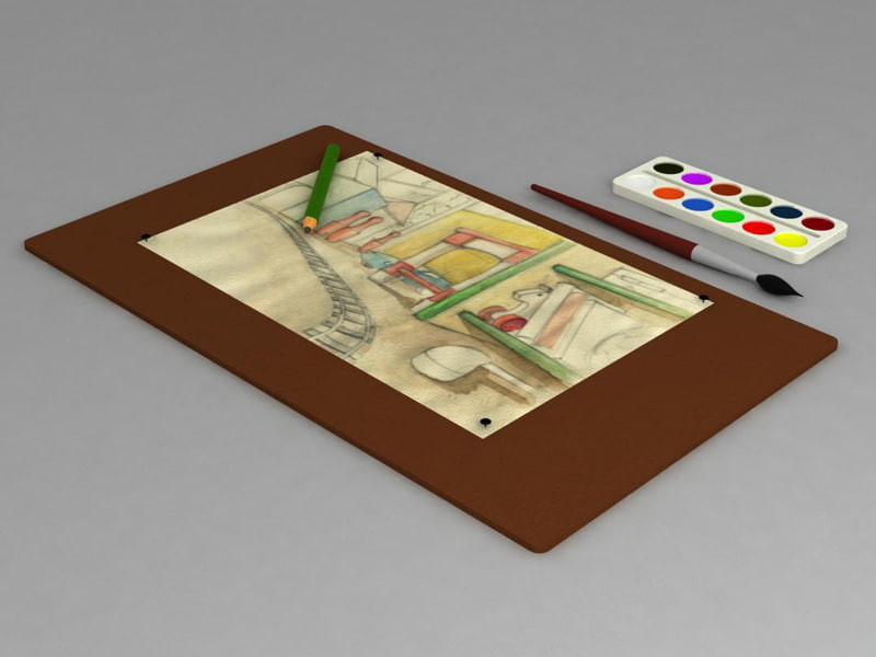 3d drawing complect model