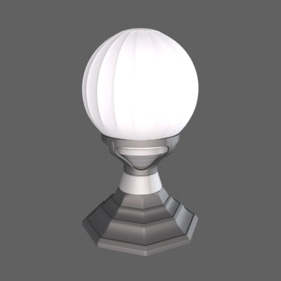 3d model art deco lamp