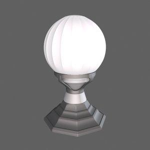 3d model art deco lamp