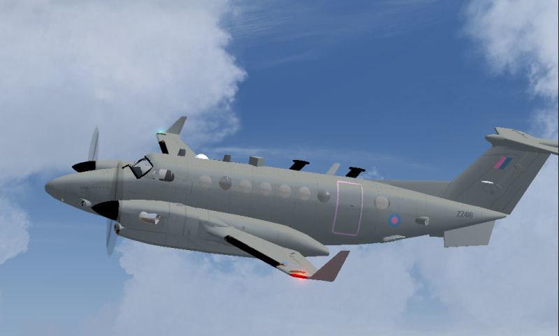 Beechcraft Shadow R1 RAF Military Surveillance Aircraft Executive Wooden Desktop Model
