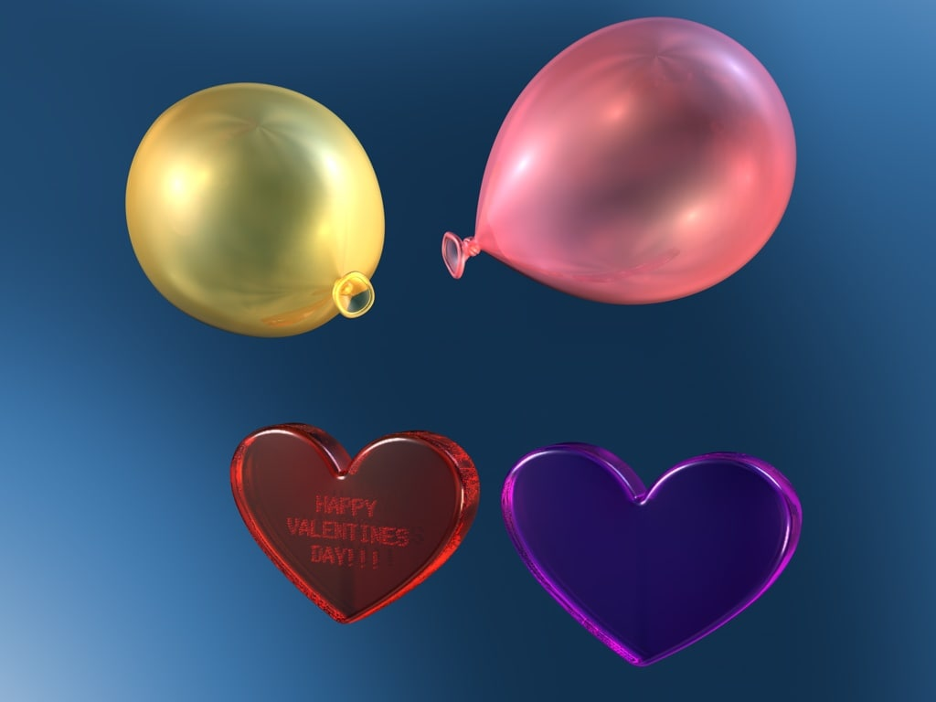 3d model valentine heart love