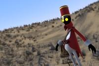 x cartoon soldier character