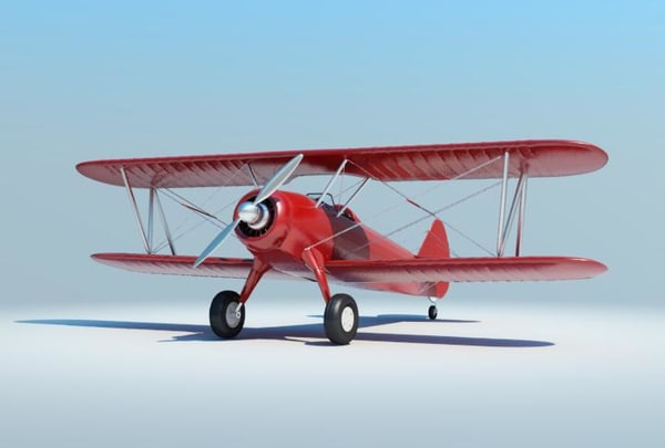 old airplane 3d obj