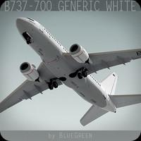 737-700 generic white plane 3d lwo