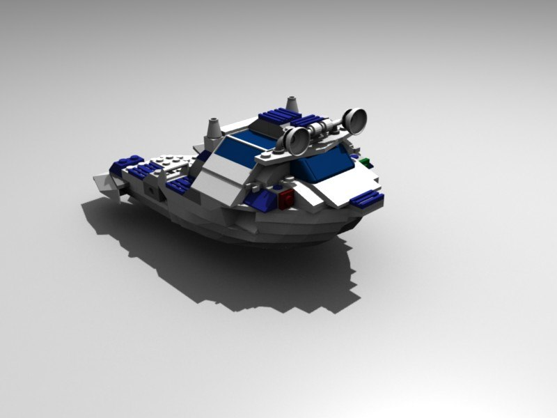 3d boat block model