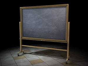 obj chalkboard chalk