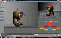 3d rigged eyeball cute model