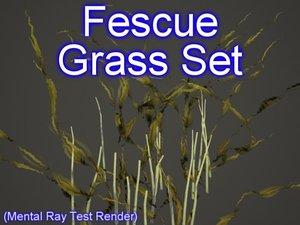 set fescue grasses 3ds