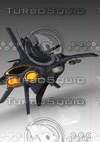 space battle ship 3d model