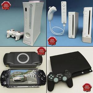 consoles v2 3d model