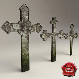 grave crosses 3d max