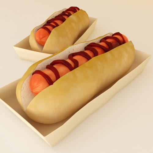 hotdog 3d max