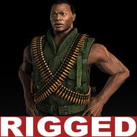 Machine Gunner Rigged