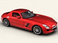 3d model mercedes benz sls 2011