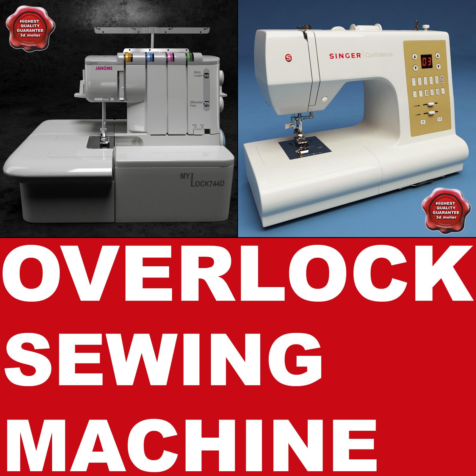 3ds max overlock sewing machine