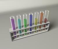 test tubes c4d