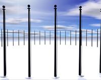 capitol flag poles obj