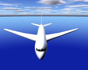 3d model commercial airliner