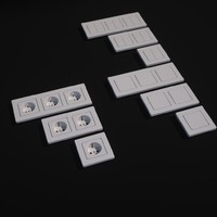 Wall outlet and switches