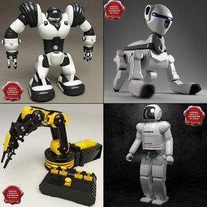 3dsmax robots robosapien asimo