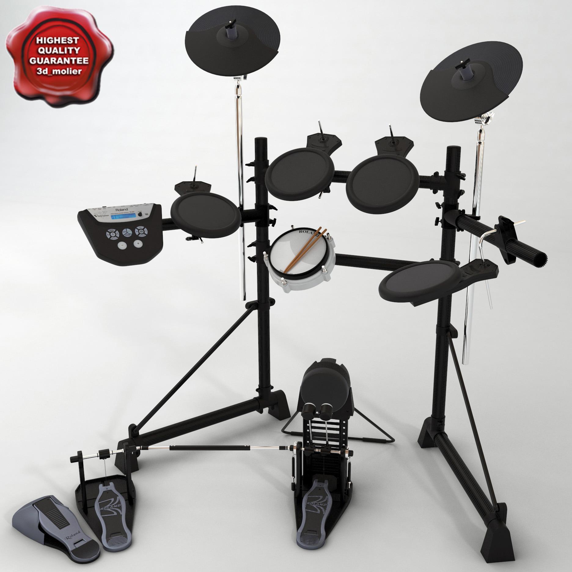 3d model roland td-6v electronic drum kit