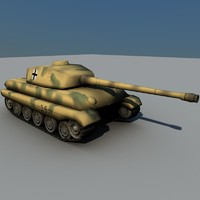 maya german tiger tank