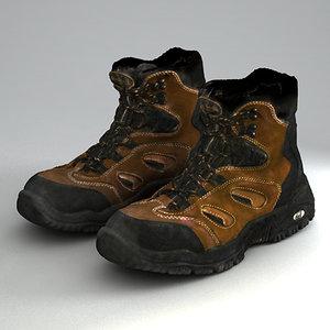 trekking shoes 3d max