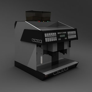 3d espresso machine unic model