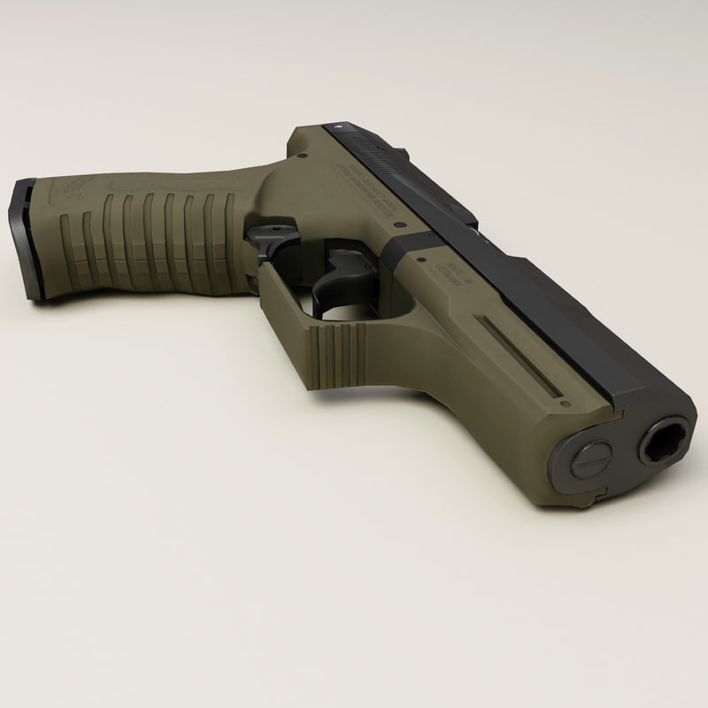 3d model of walther p99 low-poly