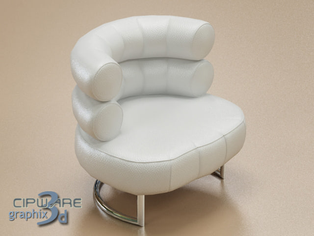 3d model modern leather chair