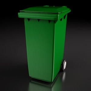 3d model wheelie bin