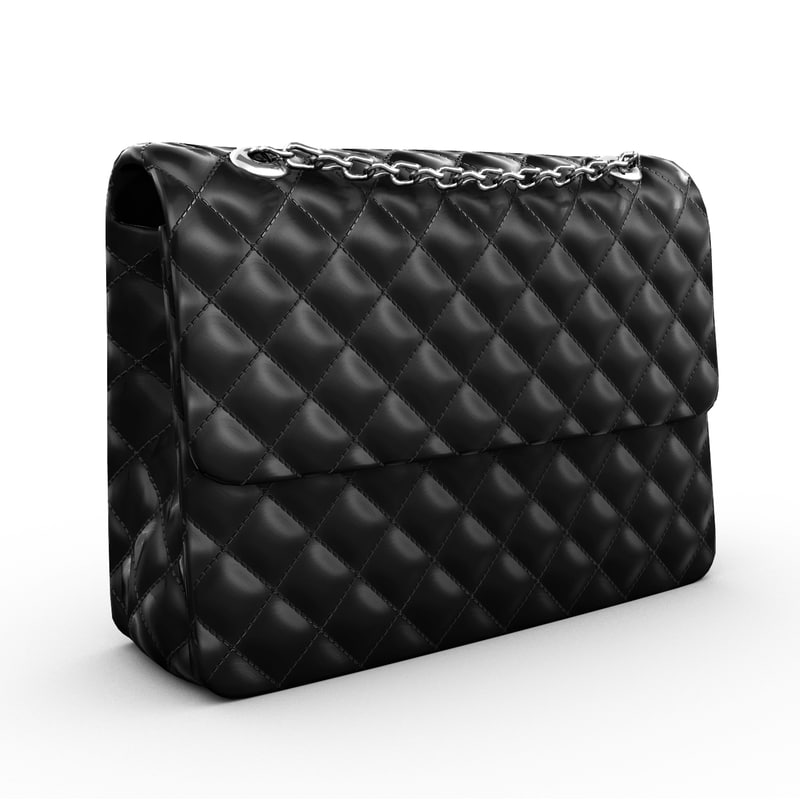 3d model of leather purse
