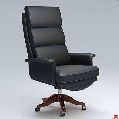 armchair swivel chair 3d 3ds