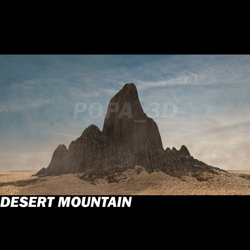 3d saharian desert mountain