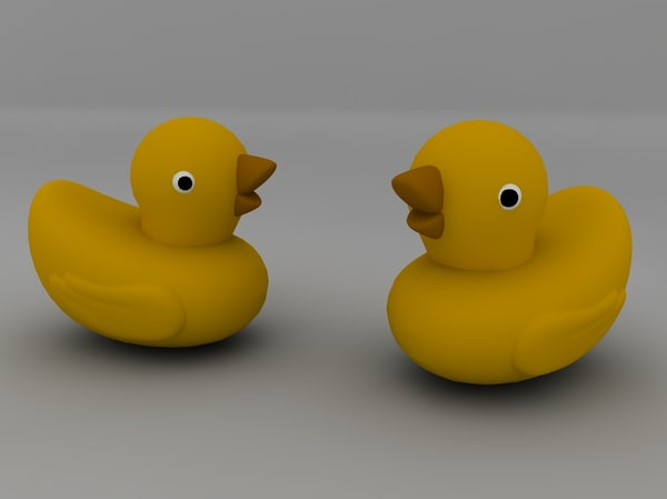 c4d yellow duck