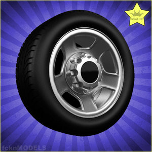 3d 3ds car wheel