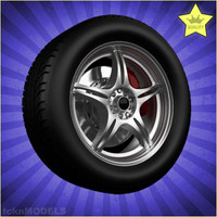 3d 3ds car wheel