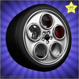 car wheel 3d lwo