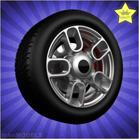 car wheel 3d 3ds
