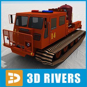 snow engine nodwell 3d model
